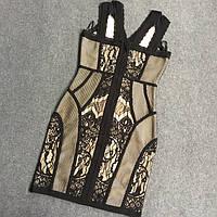 Бандажное платье в бельевом стиле, фото 1