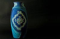 Керамическая ваза Фантазия Восток, бирюза