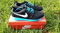 Мужские кроссовки Nike Roshe Run синие в коробке. Отличное качество. Стильный дизайн. Купить обувь Код: КДН245