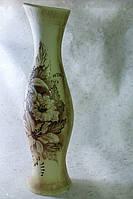 Керамическая ваза напольная Осама, шуба золотой цветок