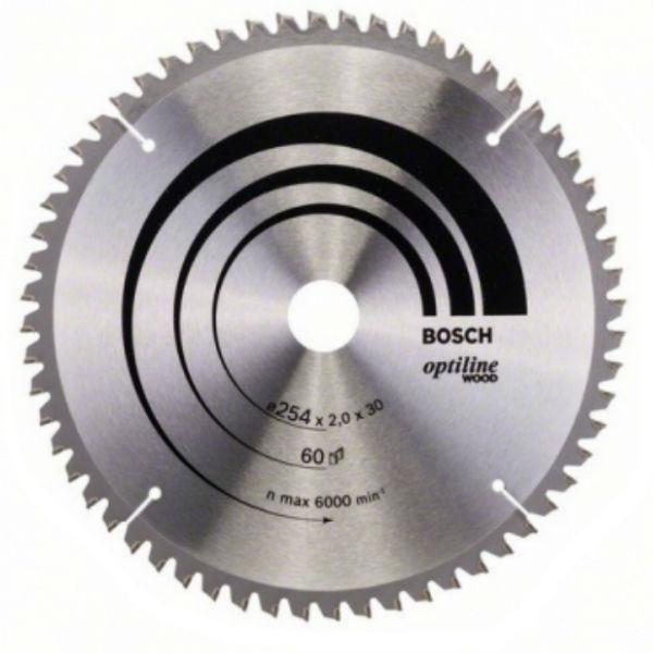 Циркулярный диск Bosch 254x30 60 Optiline
