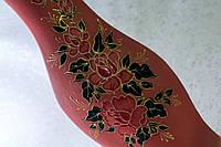 Керамическая ваза напольная Натали, розовый акрил