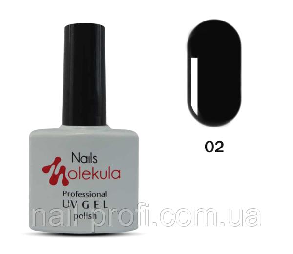 Гель-лак Nails Molekula Professional №02 Чорний