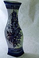 Керамическая ваза напольная Натали, гжель