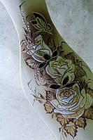 Керамическая ваза напольная Натали, шуба золото