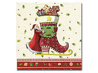 Салфетка для декупажа  Eventa —   Дед мороз и сапожок, 33x33 см