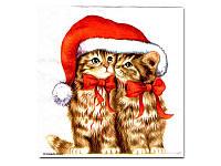 Салфетка для декупажа  Eventa — Два котенка в колпаке, 33x33 см
