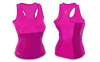 Майка для фитнеса (похудения) HOT SHAPERS  FI-4818 (р-р S-XL, неопрен, сетка)