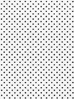 Фетр 100% полиэстер — Белый в черный горох, 1 мм, 20x30 см, 1 лист