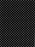 Фетр 100% полиэстер — Черный в белый горох, 1 мм, 20x30 см, 1 лист