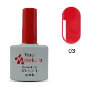 Гель-лак Nails Molekula Professional №03 кораловий