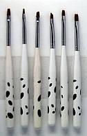 Набор кистей  для дизайна, китайской росписи  ногтей YRE Юж. Корея 6 шт