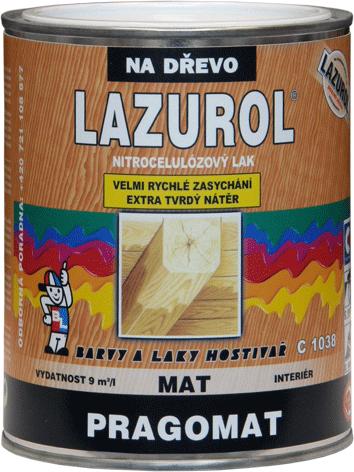 Лак для дерева нитроцеллюлозный матовый LAZUROL - PRAGOLESK C1038
