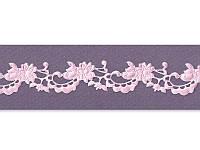 Фигурная лента — Вуаль розовая, ширина 22 мм, длина 50 см