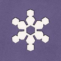 Чипборд Wycinanka —  Снежинка стилизованная 2, 1 шт
