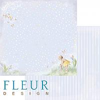 Лист бумаги Fleur Design, Девочки - Любимая игрушка, 30x30 см, 1 шт