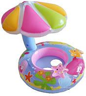 Детский надувной круг с навесом Intex 56583