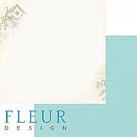 Лист бумаги Fleur Design, Зарисовки весны - Скворечник, 30x30 см, 1 шт