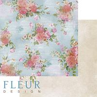 Лист бумаги Fleur Design, Летний сад - Гардении, 30x30 см, 1 шт