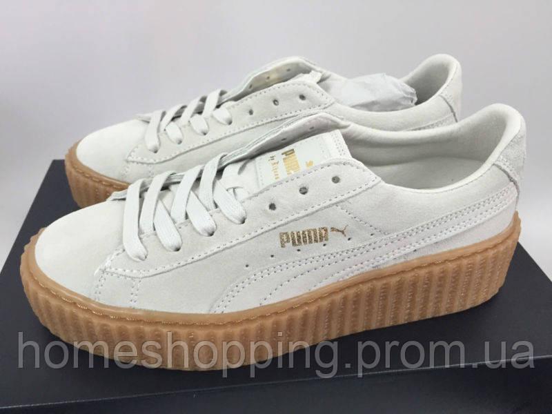 Женские кроссовки Puma x Rihanna Suede Creeper