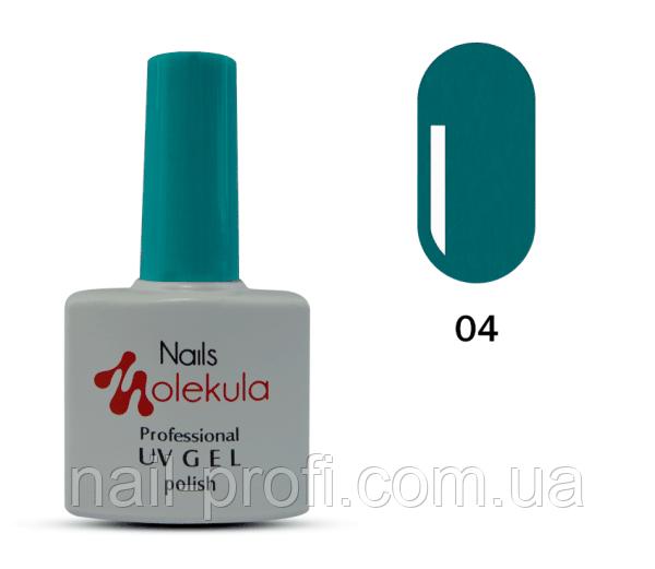 Гель-лак Nails Molekula Professional №04  лазурный