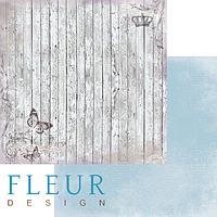 Лист бумаги Fleur Design, Цветы прованса - Старый забор, 30x30 см, 1 шт