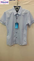 Рубашка для мальчика х/б с коротким рукавом 1, уп. 6 шт., рост от 7 до 12 лет