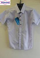 Рубашка для мальчика х/б с коротким рукавом 5, уп. 6 шт., рост от 7 до 12 лет