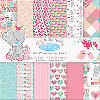 Набор бумаги от Me to You - Tiny Tatty Teddy Girl, 20x20 см, 12 листов