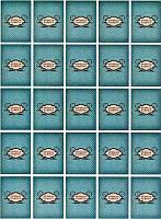 Лист с бирками от Decards — Ручная работа бирюзовый винтаж, размер 1 штуки  40x55 мм, 25 бирок