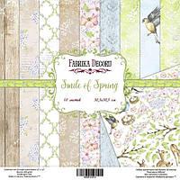 """Набор бумаги для декорирования Фабрика  декора - """"Smile of spring"""", 20x20 см, 10 листов"""