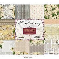 Набор бумаги от Фабрики Декора - Розовый сад, 30,5x30,5 см, 12 листов