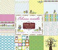 Набор бумаги от Фабрики Декора - Совиная семейка, 30,5x30,5 см, 12 листов