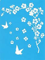 Трафарет Фабрика декора — Ветка сакуры, 20x15 см, 1 шт