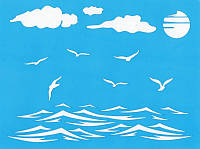 Трафарет Фабрика декора — Морская романтика 2, 20x15 см, 1 шт