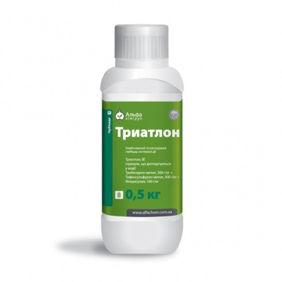 Гербицид Триатлон  трёхкомпонентный - Тифенсульфурон-метил 300 г/кг + Трибенурон-метил 300 г/кг + Флорасулам