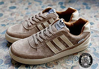 Стильні чоловічі кросівки Adidas Blazer Коричневі