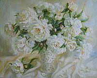 «Белые пионы» картина маслом