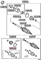 Пыльник заднего внутреннего шруса на Toyota Rav4.Код: 04439-12020