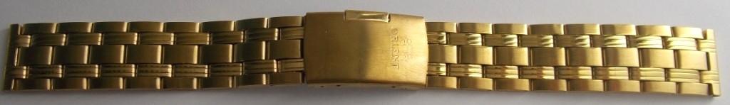 Браслет для часов метал ОРИЕНТ 18 мм Gold