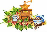 Схема для вышивки бисером POINT ART Натуральный кофе, размер 19х13 см