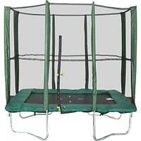 Прямоугольный батут Kidigo 215x150 см с защитной сеткой