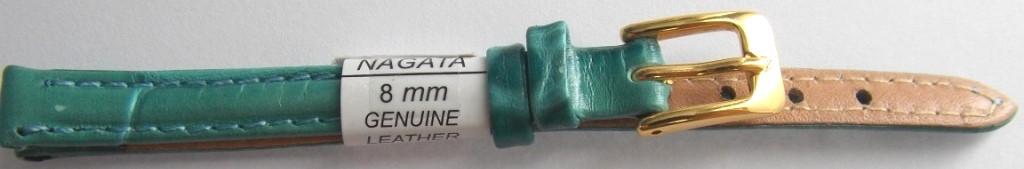 Ремешок кожаный NAGATA (ИСПАНИЯ) 8 мм, бирюзовый