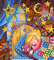 Схема для вышивки бисером POINT ART Сладкие сны, размер 20х22 см