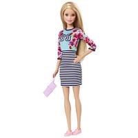 Кукла Барби, серия Модницы - Топ в цветок и полосатая юбка Barbie