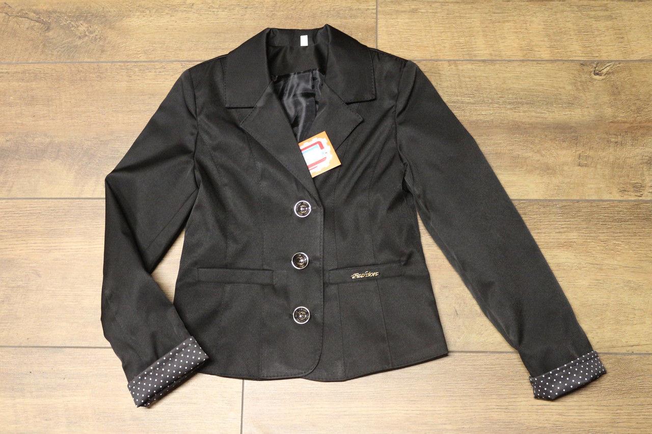 Школьный пиджак Манжет горох Размер 122 - 146 см Разные цвета