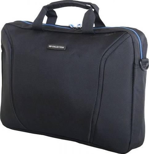 Приличная мужская сумка-папка VIP COLLECTION Barcelona 15 Navy TF.30.15.navy, черный с синим