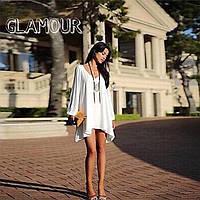 Блузка туника женская шифоновая Белая