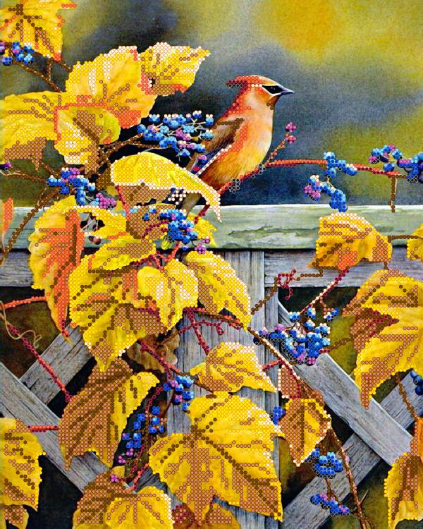 Схема для вишивки бісером POINT ART Осінній виноград, розмір 24х30 см