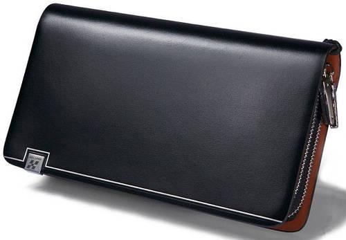Мужской стильный кожаный клатч Hautton Boss Black SZB83XA, черный